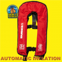 BURKE RED AUTOMATIC MANUAL INFLATABLE 150N PFD1 LIFEJACKET AS4758.1 (PFD901)