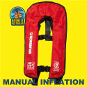 BURKE RED MANUAL INFLATABLE 150N PFD1 LIFEJACKET AS4758.1 (PFD900)