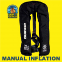BURKE BLACK MANUAL INFLATABLE 150N PFD1 LIFEJACKET AS4758.1 (PFD902)